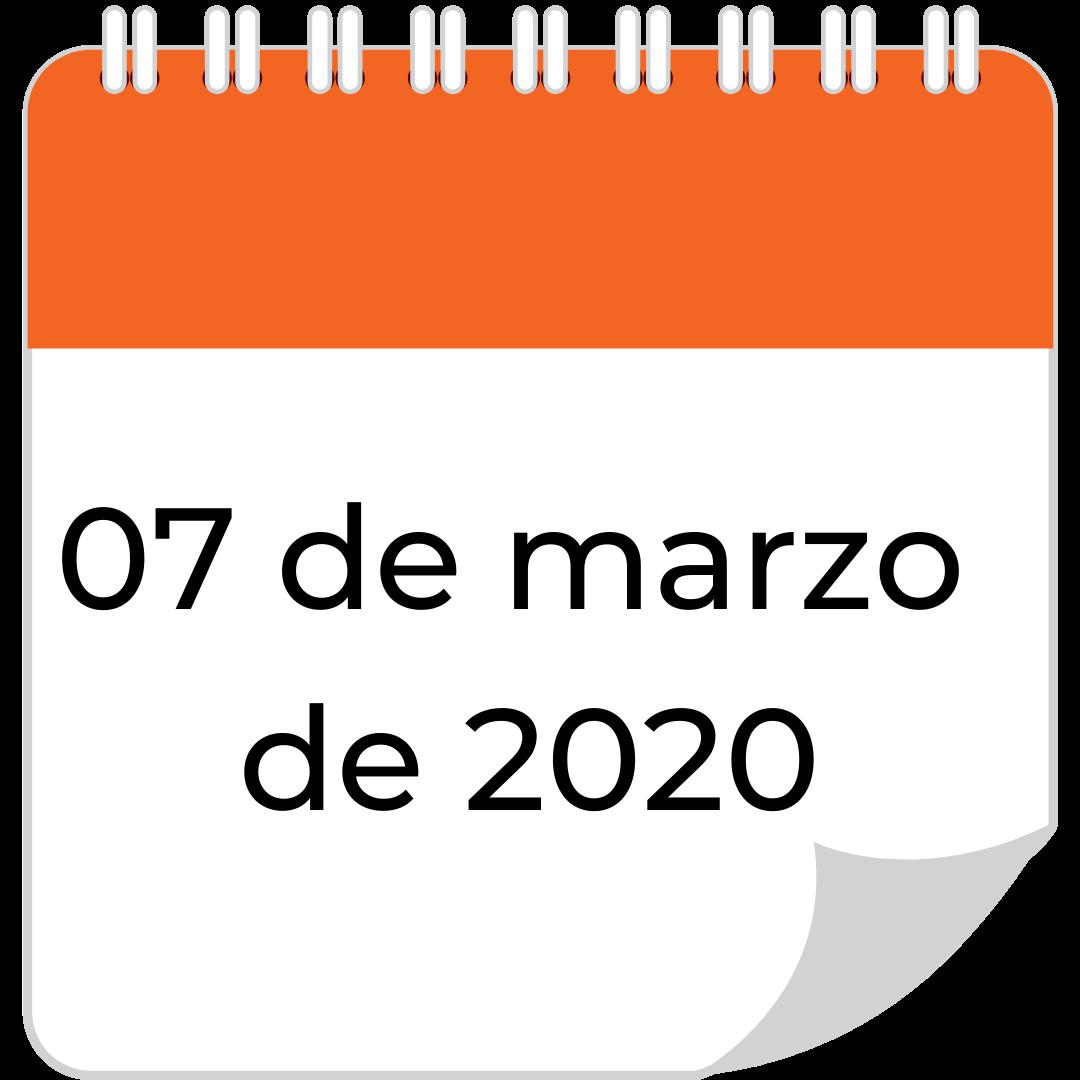 07 de marzo de 2020